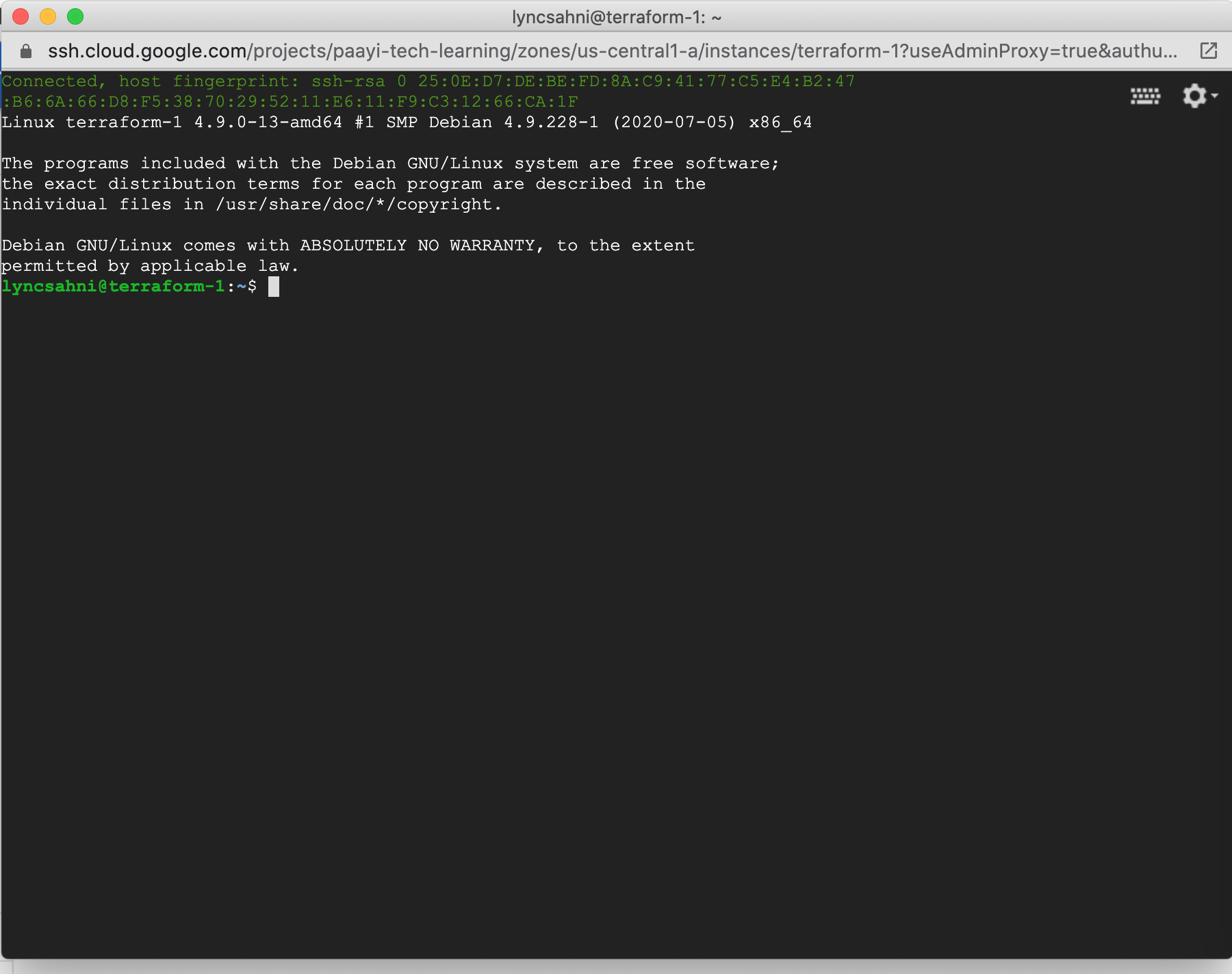 after-successful-login-into-ssh-this-screen-will-come---paayi-terraform-tutorials